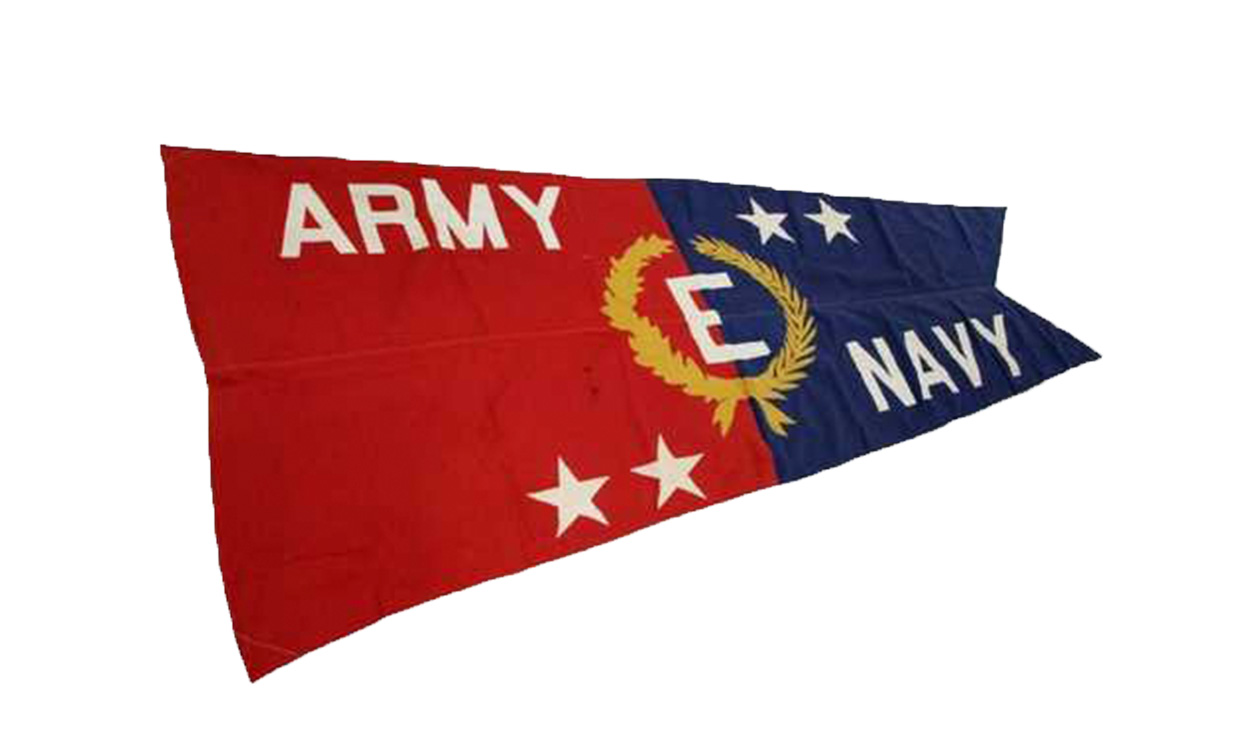 army navy e award flag