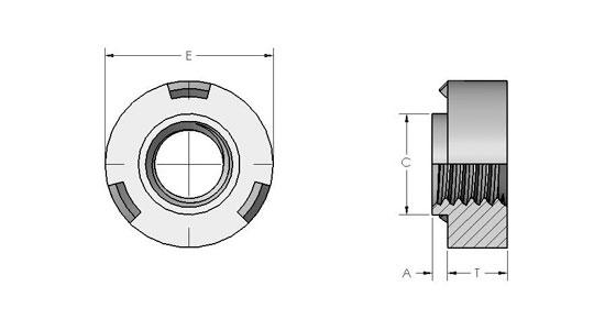 Projection Weld Nuts Spiralock Stanley Engineered Fastening