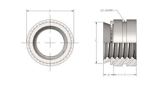 Spiralock® Self-Clinching Fasteners for Stainless Steel
