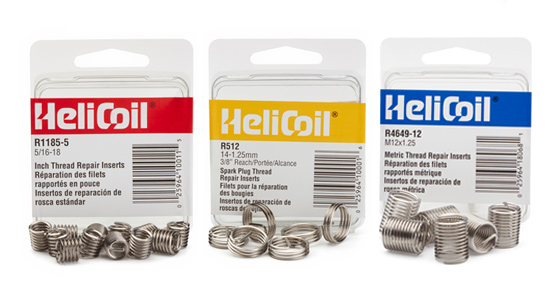 heli-coil packaged inserts multiple sizes